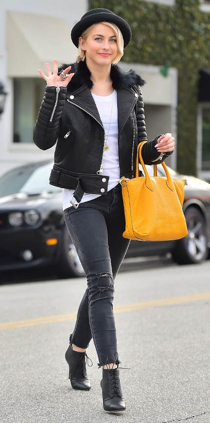 EXCLUSIVE: Julianne Hough is all smiles after doing some last minute christmas shopping