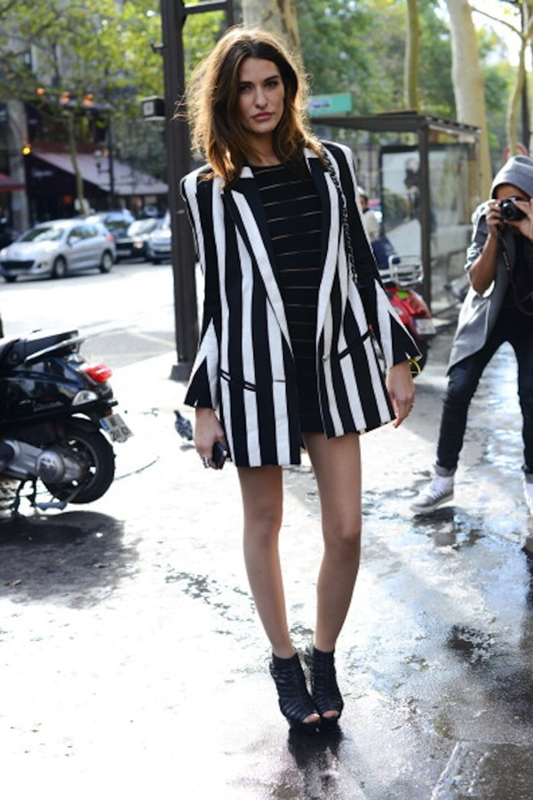 PARIS, FRANCE - SEPTEMBER 27:  Allison Kadoche, model wearing all Balmain on day 3 of Paris  Fashion Week Womenswear Spring/Summer 2013, on September 27, 2012 in Paris, France. (Photo by Kirstin Sinclair/FilmMagic)